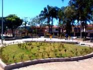 No lugar do antigo monumento uma estação de exercícios